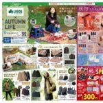 【シャンブルチラシ】LOGOS特集、雑誌シャンブルコラボ、300・500・1000円特価、moz新作、あったか冬小物