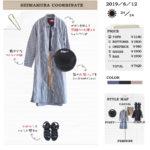 【しまむら一か月着回しコーデ】980円シャツワンピは羽織りとして♪黒T×ショートパンツのカジュアルコーデ
